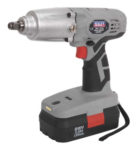"""Sealey - CP2600  Cordless Impact Wrench 26V 3Ah Lithium-ion 1/2""""Sq Drive 335lb.ft"""