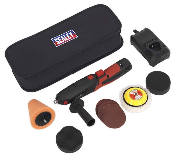 Sealey - CP2812V  Cordless Mini Sander/Polisher Kit 10.8V