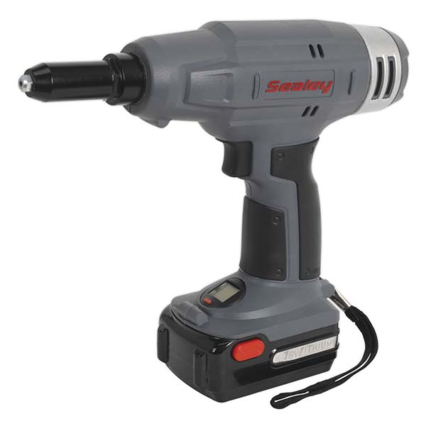 Sealey - CP313 Cordless Riveter 18V 1.5Ah Lithium-ion 1hr Charger