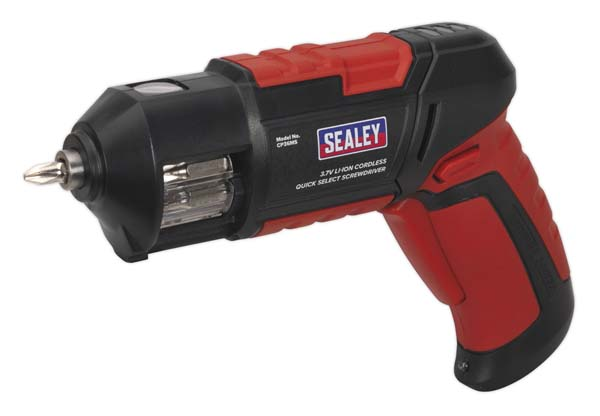 Sealey - CP36MS  Cordless Screwdriver Quick Select 14pc 3.7V Lithium-ion USB