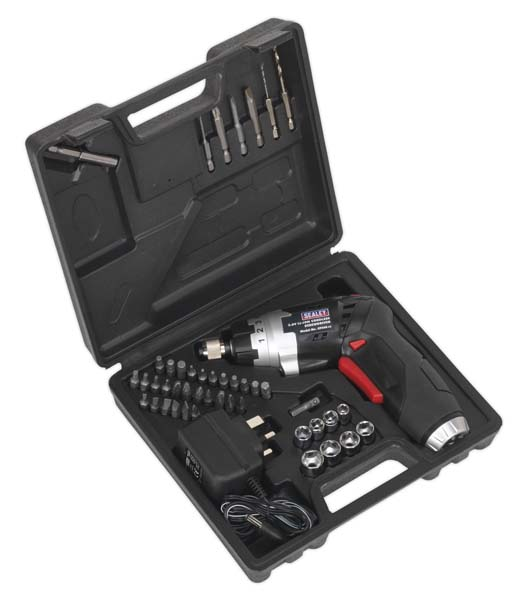 Sealey - CP36S  Cordless Screwdriver Set 46pc 3.6V Lithium-ion