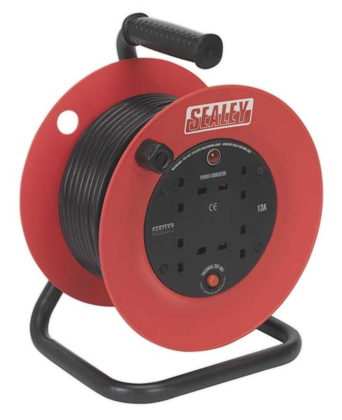 Sealey - CR25/1.5  Cable Reel 25mtr 4 x 230V 1.5mm
