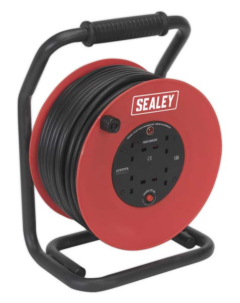 Sealey - CR25025  Cable Reel 50mtr 4 x 230V 2.5mm
