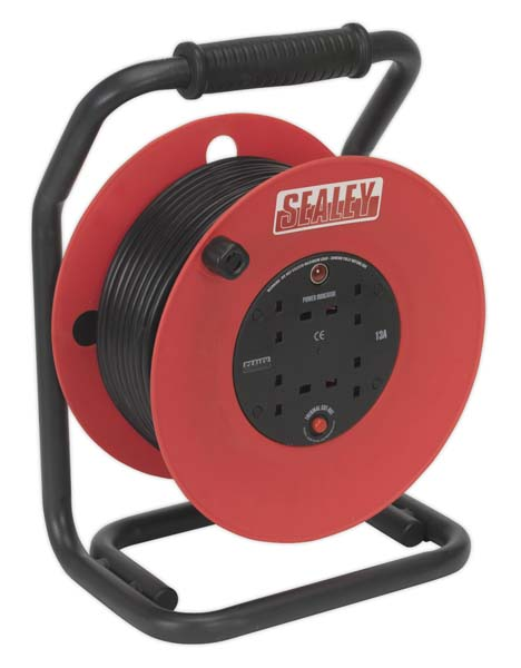 Sealey - CR50/1.5  Cable Reel 50mtr 4 x 230V 1.5mm