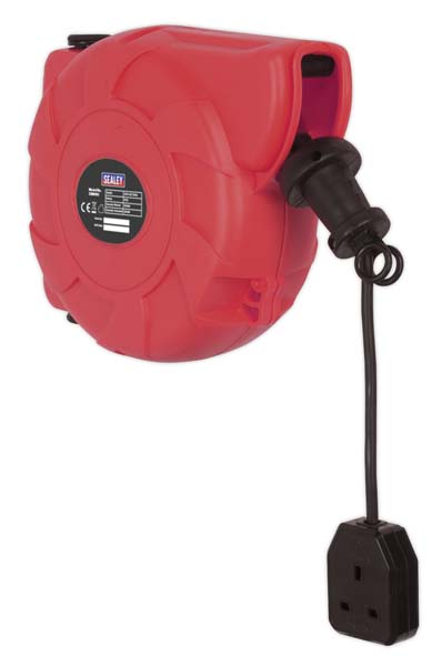 Sealey - CRM101  Cable Reel System Retractable 10mtr 1 x 230V Socket