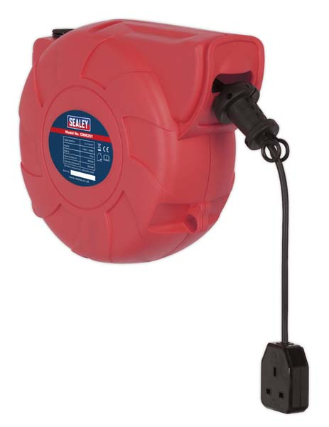 Sealey - CRM251  Cable Reel System Retractable 25mtr 1 x 230V Socket