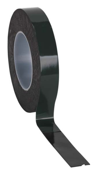 Sealey - DSTG2510  Double-Sided Adhesive Foam Tape 25mm x 10mtr Green Backing