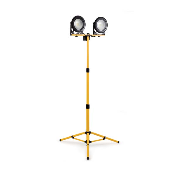 Defender DF1200- 20W LED Twin Head Work Light with Telescopic Tripod 240V