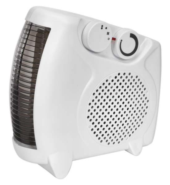 Sealey - FH2010  Fan Heater 2000W/230V 2 Heat Settings & Thermostat