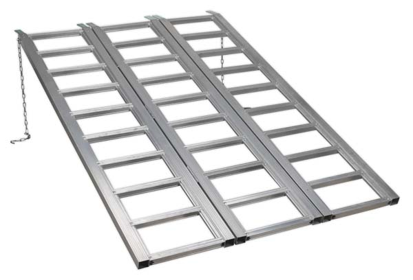 Sealey - FLR680T  Motorcycle/Trike/ATV & Mini Tractor Ramp Wide Tri-Fold 680kg Capacity