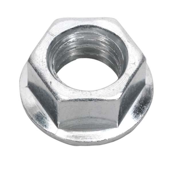 Sealey - FN10  Flange Nut Serrated M10 Zinc DIN 6923 Pack of 100