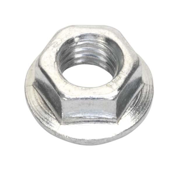 Sealey - FN5  Flange Nut Serrated M5 Zinc DIN 6923 Pack of 100