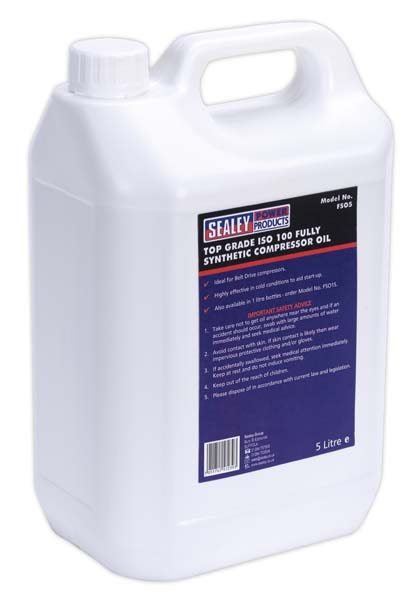 Sealey - FSO5  Compressor Oil Fully Synthetic 5ltr