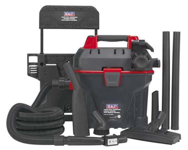 Sealey - GV180WM  Garage Vacuum 1500W with Remote Control - Wall Mounting