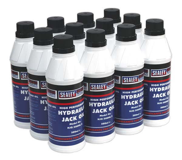 Sealey - HJO/500ML  Hydraulic Jack Oil 500ml 12pc