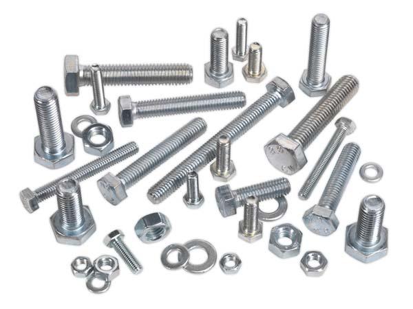 Sealey - HSSM10  Setscrew & Nut Assortment 200pc M10