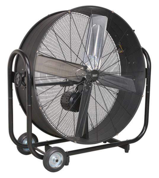 "Sealey - HVD42B  Industrial High Velocity Drum Fan 42"" Belt Drive 230V"