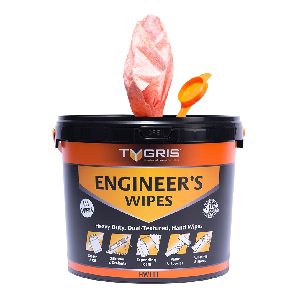 TYGRIS  HW111  Engineers Dual Textured Hand Wipes (110 Bucket)