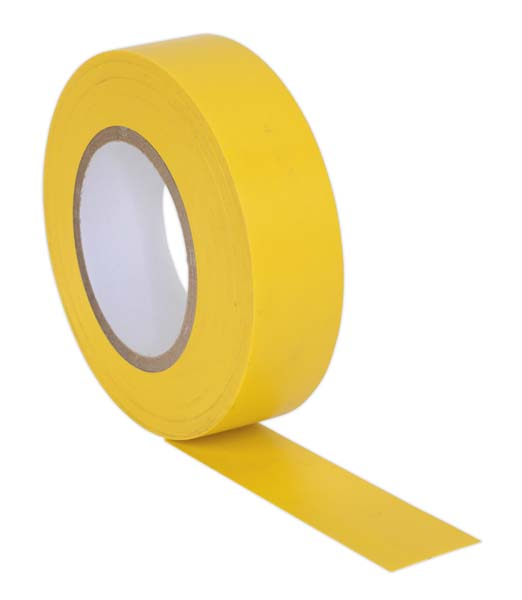 Sealey - ITYEL10  PVC Insulating Tape 19mm x 20mtr Yellow Pack of 10