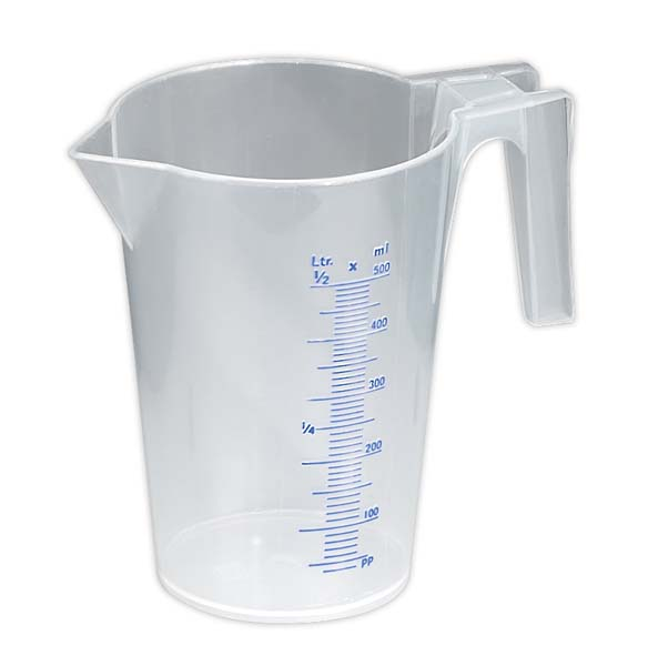 Sealey - JT0500  Measuring Jug Translucent 0.5ltr