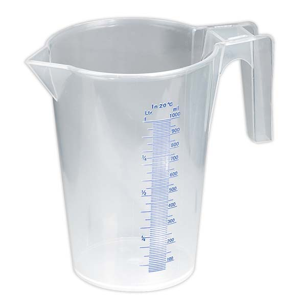 Sealey - JT1000  Measuring Jug Translucent 1ltr