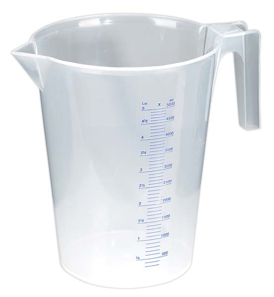 Sealey - JT5000  Measuring Jug Translucent 5ltr