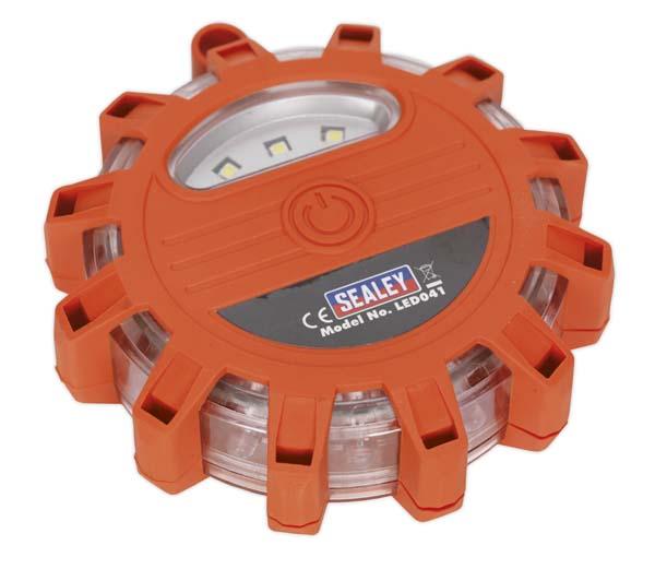 Sealey - LED041  Rotating Warning Light 12 LED + 3 SMD LED