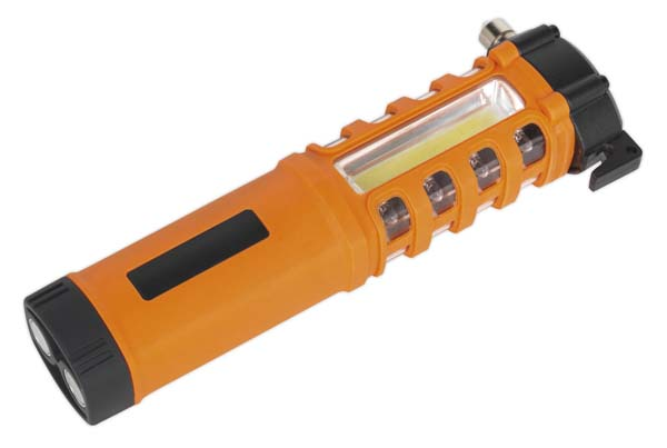 Sealey - LED059  Emergency Torch/Belt Cutter/Hammer - 2W COB + 16 Red LED + 1W LED