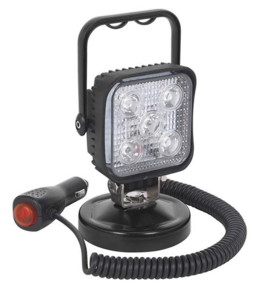 Sealey - LED121  Portable Floodlight 15W LED 12V with Magnetic Base