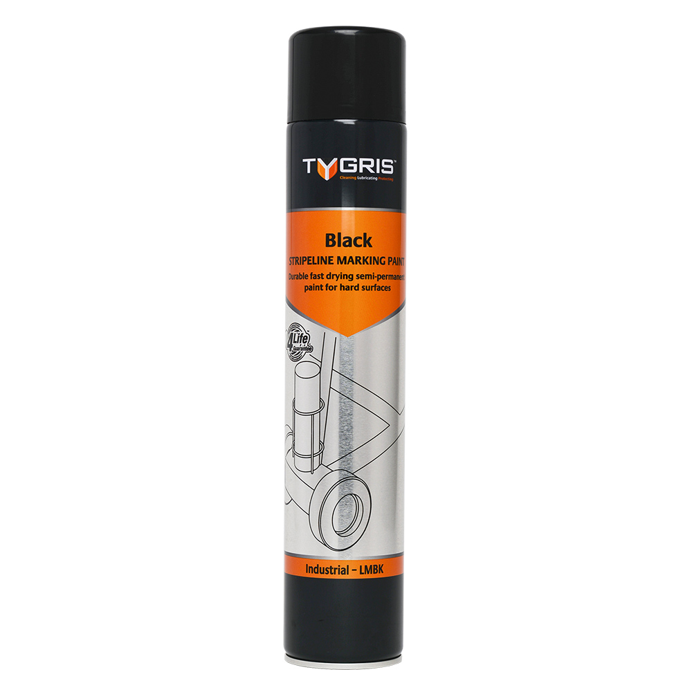 TYGRIS Stripeline Marking Paint Black - 750 ml LMBK