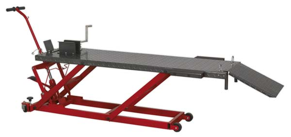 Sealey - MC455  Motorcycle Lift 450kg Capacity Hydraulic
