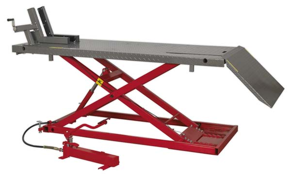Sealey - MC680A  Motorcycle Lift 680kg Capacity Heavy-Duty Air/Hydraulic