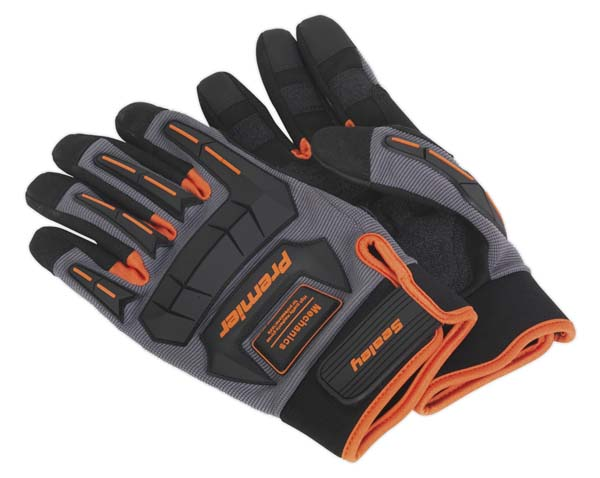 Sealey - MG803L  Mechanic's Gloves Anti-Collision - Large