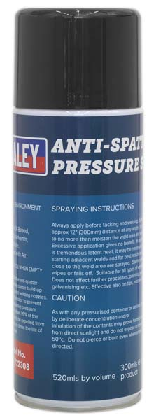Sealey - MIG/722308  Anti-Spatter Pressure Spray 300ml