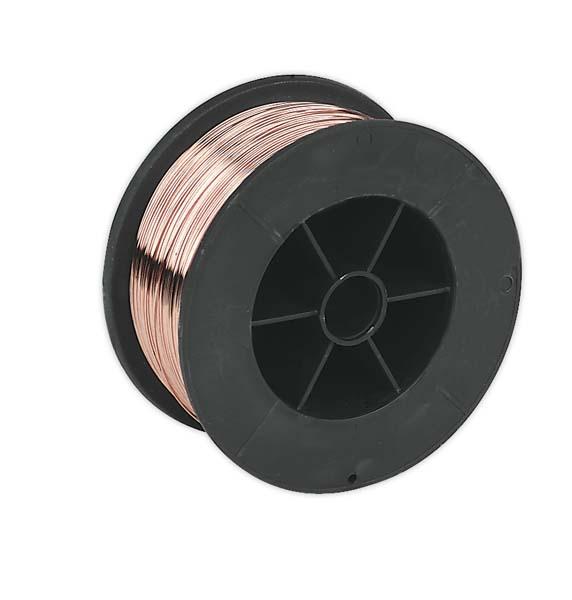 Sealey - MIG/7K08  Mild Steel MIG Wire 0.7kg 0.8mm A18 Grade