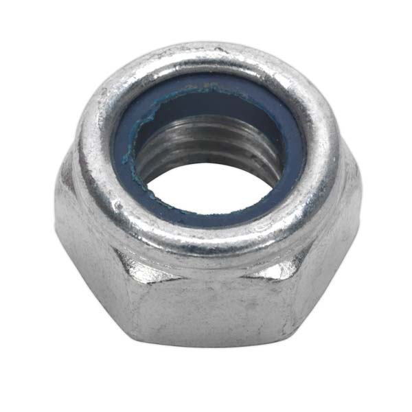 Sealey - NLN14  Nylon Lock Nut M14 Zinc DIN 982 Pack of 25