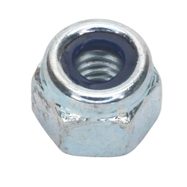 Sealey - NLN5  Nylon Lock Nut M5 Zinc DIN 982 Pack of 100