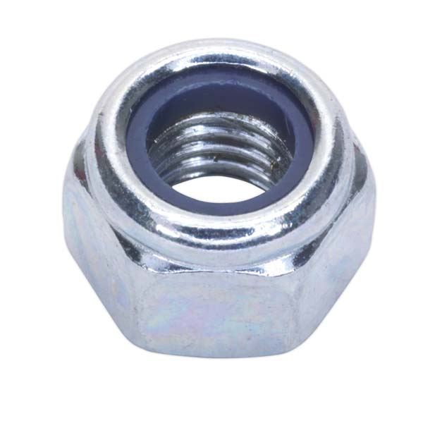Sealey - NLN8  Nylon Lock Nut M8 Zinc DIN 982 Pack of 100