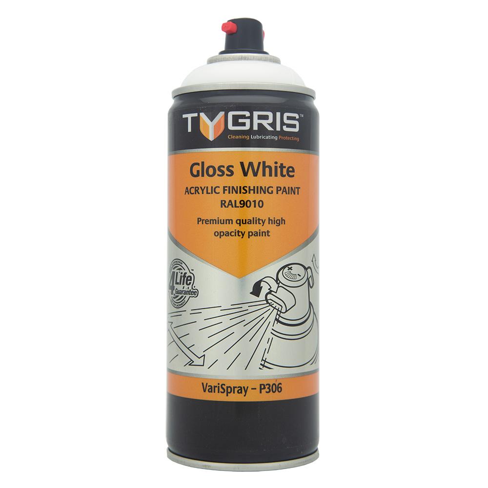 TYGRIS Gloss White Paint (RAL9010) - 400 ml P306