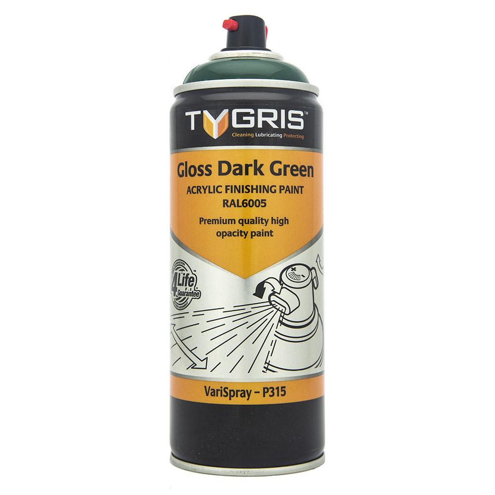 TYGRIS Gloss Dark Green Paint (RAL6005) - 400 ml P315