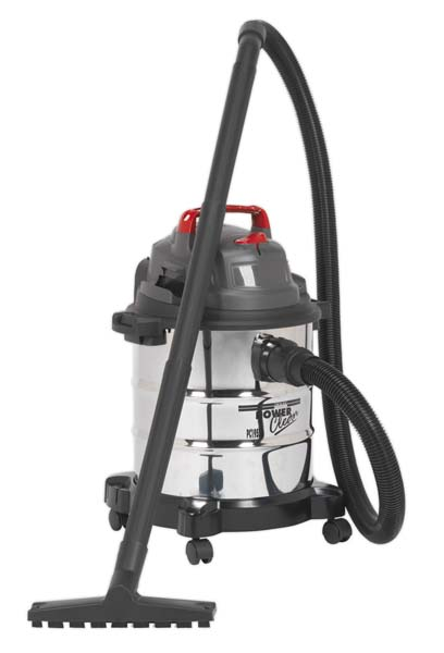 Sealey - PC195SD  Vacuum Cleaner Wet & Dry 20ltr 1250W Stainless Drum