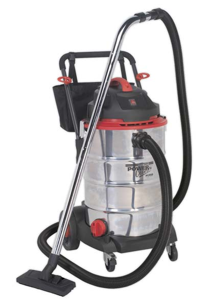 Sealey - PC460  Vacuum Cleaner Wet & Dry 60ltr Stainless Drum 1600W/230V