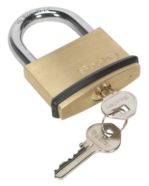 Sealey - PL203  Brass Body Padlock 60mm