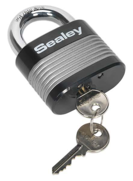 Sealey - PL403  Zinc Coated Steel Body Padlock 63mm