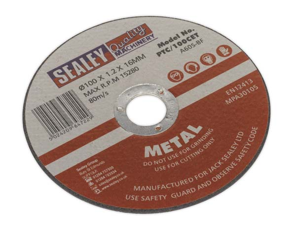 Sealey - PTC/100CET  Cutting Disc