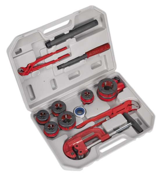 "Sealey - PTK993  Pipe Threading Kit 1/4"" - 1-1/4""BSPT"