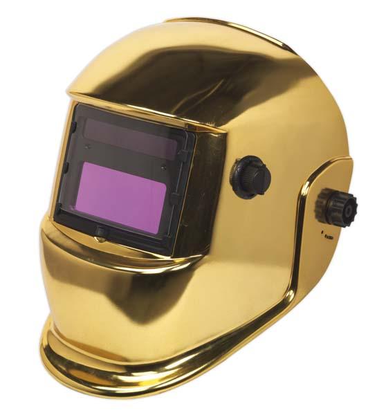 Sealey - PWH598G  Welding Helmet Auto Darkening Shade 9-13 - Gold