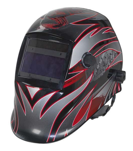 Sealey - PWH600  Welding Helmet Auto Darkening Shade 9-13