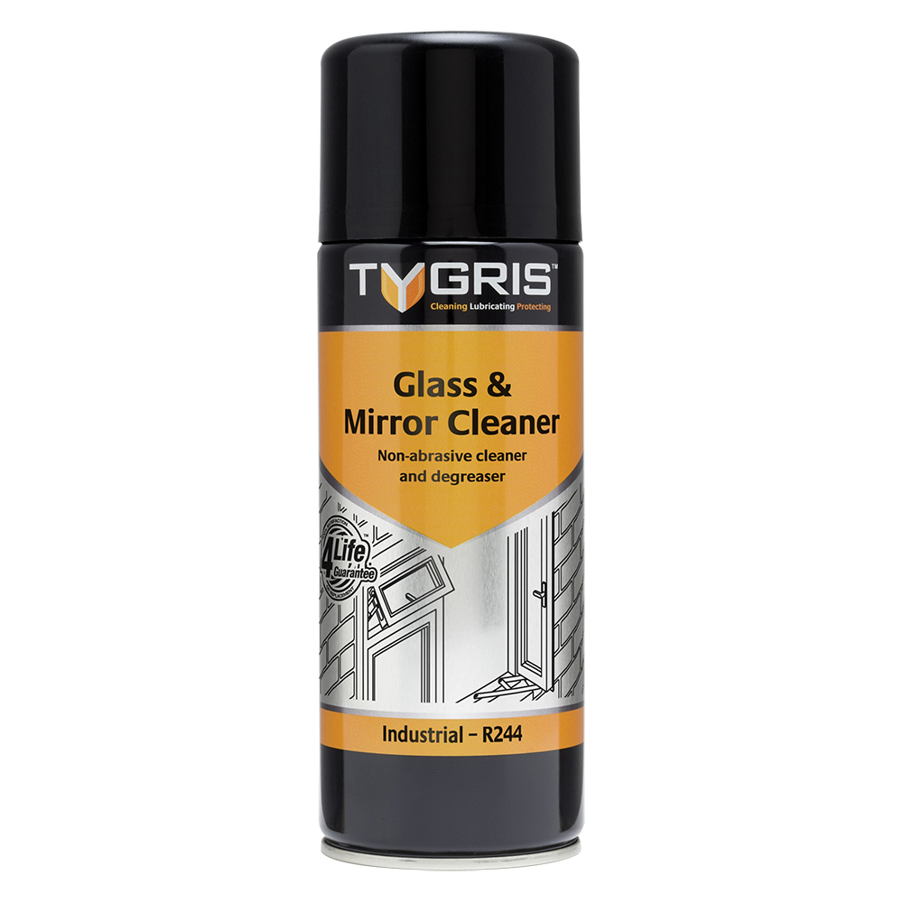 TYGRIS  R244  Glass & Mirror Cleaner  400ml Aerosol