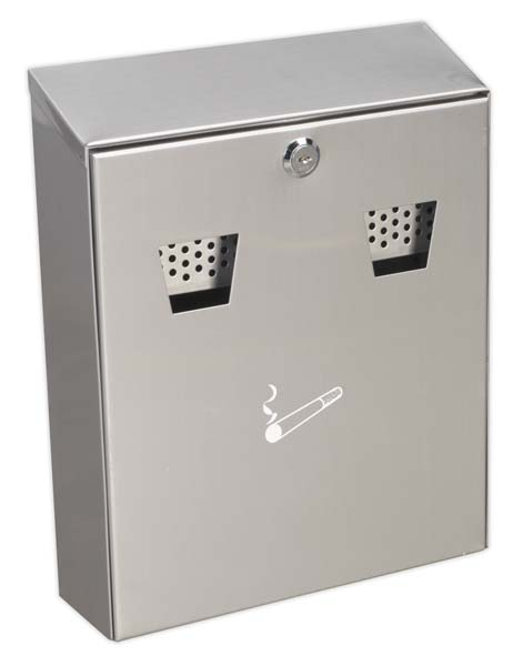 Sealey - RCB02  Cigarette Bin Wall Mounting Stainless Steel
